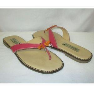 Brighton Ofelia Pink Flip Flop Thong Sandals